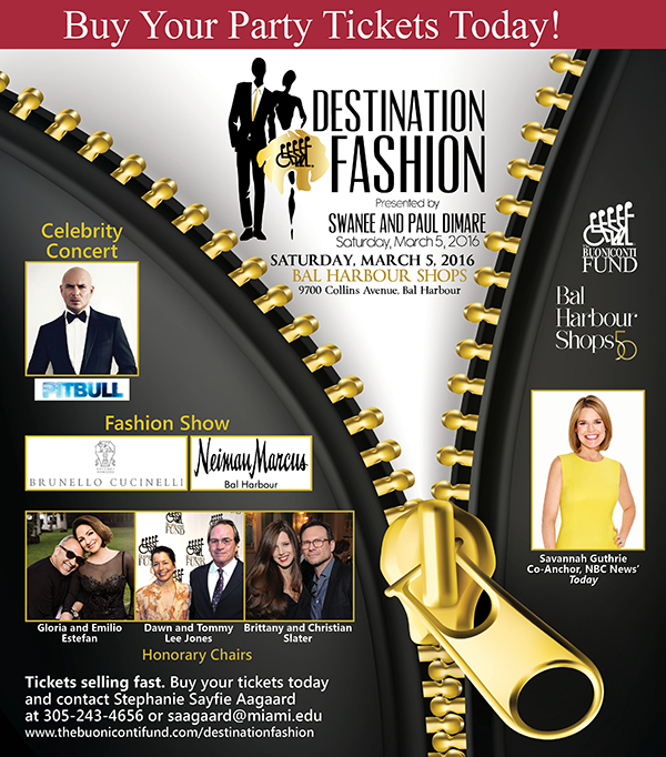 Destination Fashion 2016 presented by Swanee and Paul DiMare