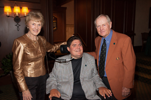 Barbara Nicklaus with Marc Buoniconti and Jack Nicklaus