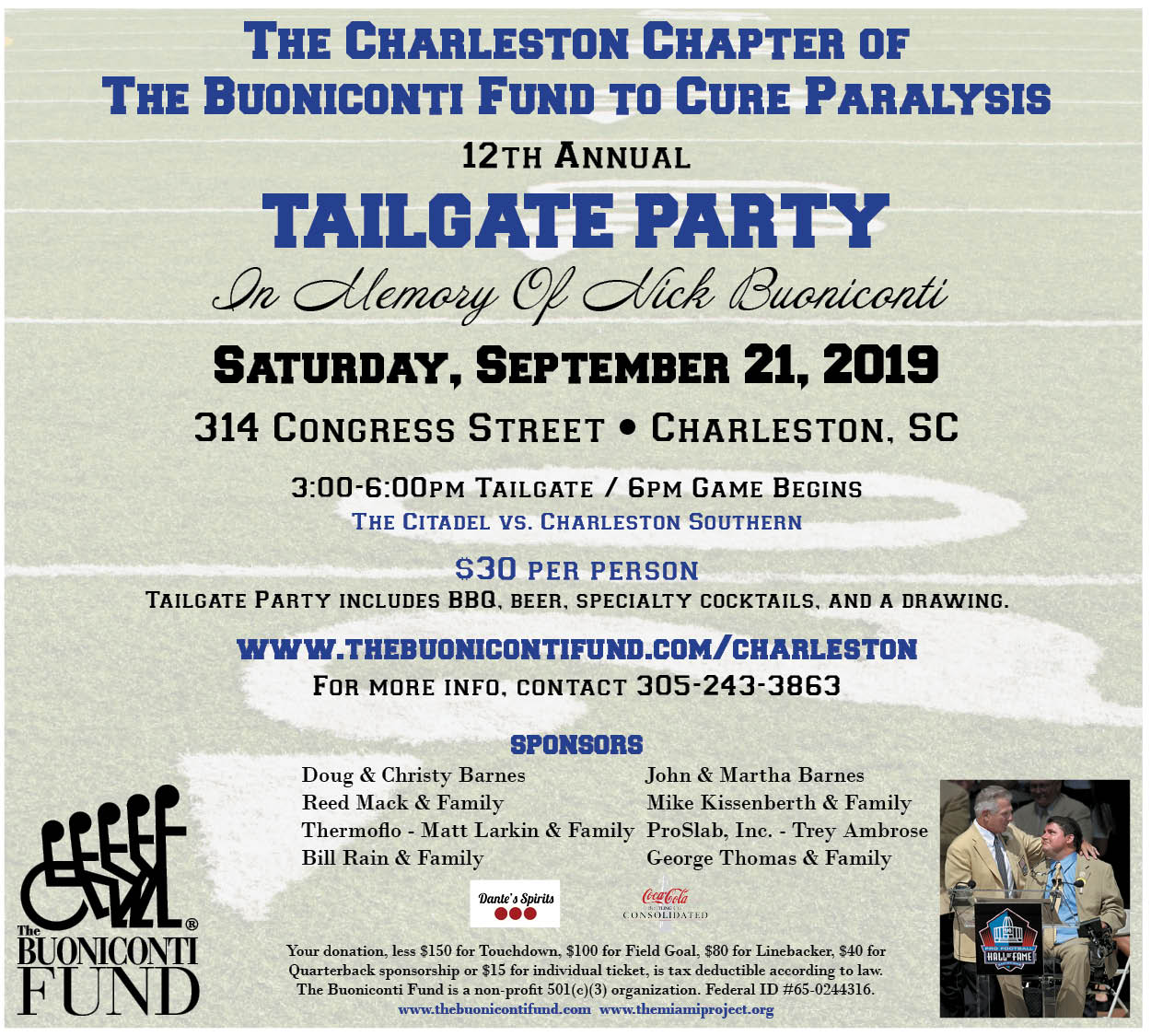 12th Annual Charleston Tailgate Party