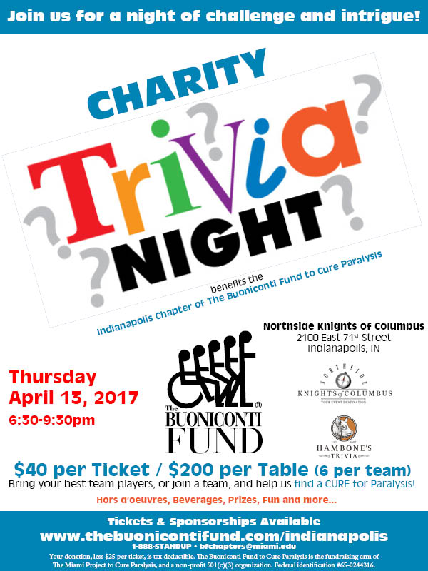 Indianapolis Chapter Charity Trivia Night