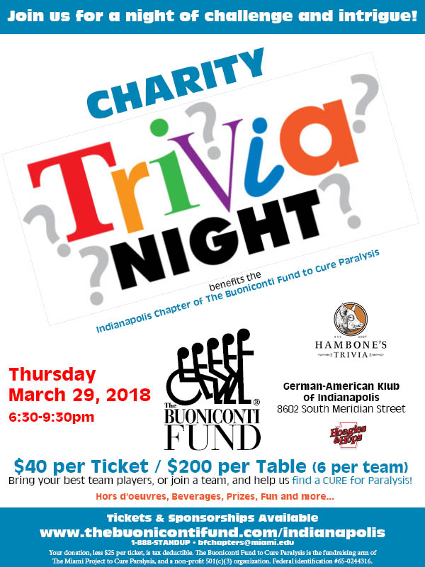Indianapolis Chapter's 2018 Trivia Night