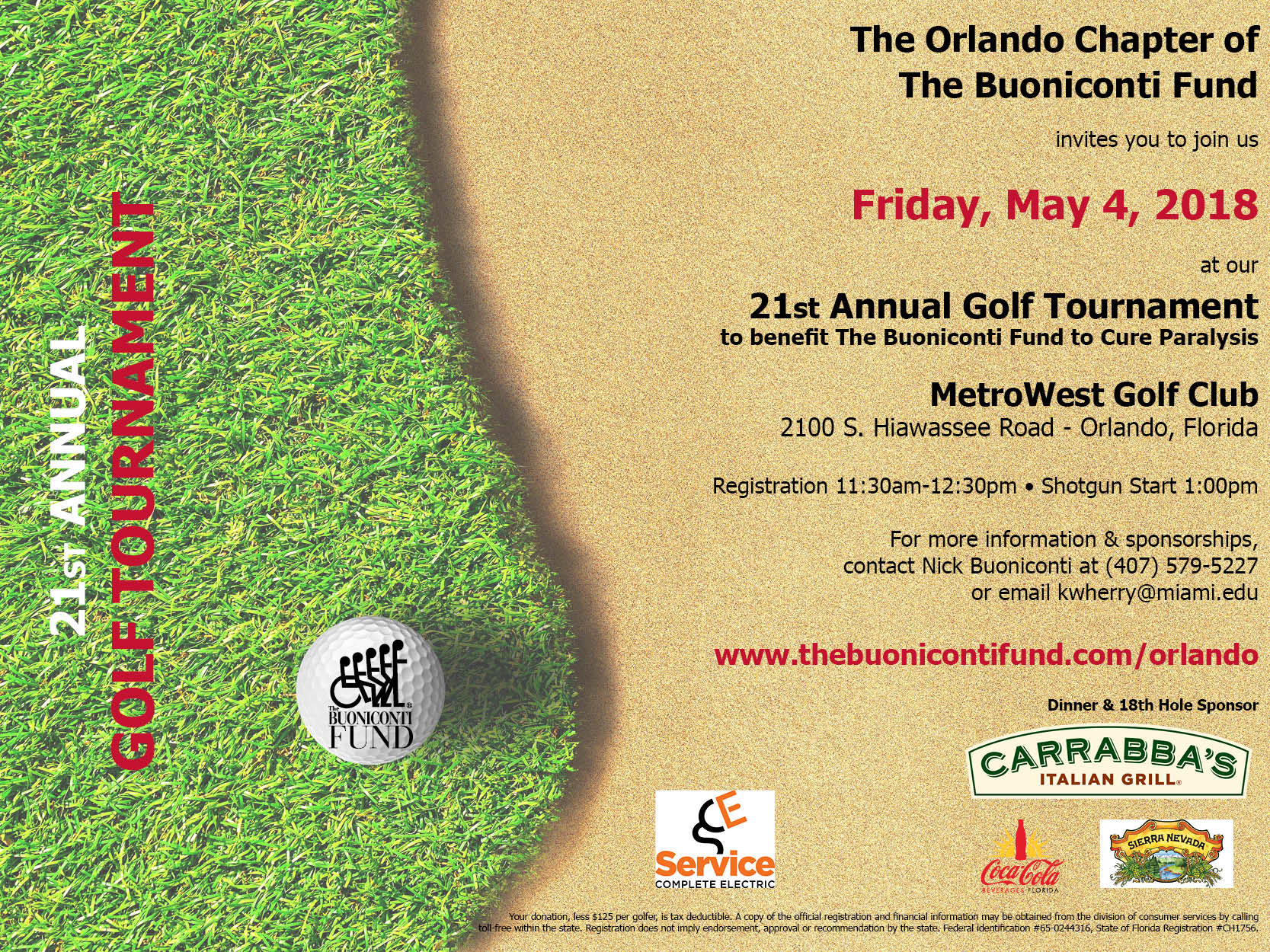 Orlando Chapter's 21st Annual Golf Tournament