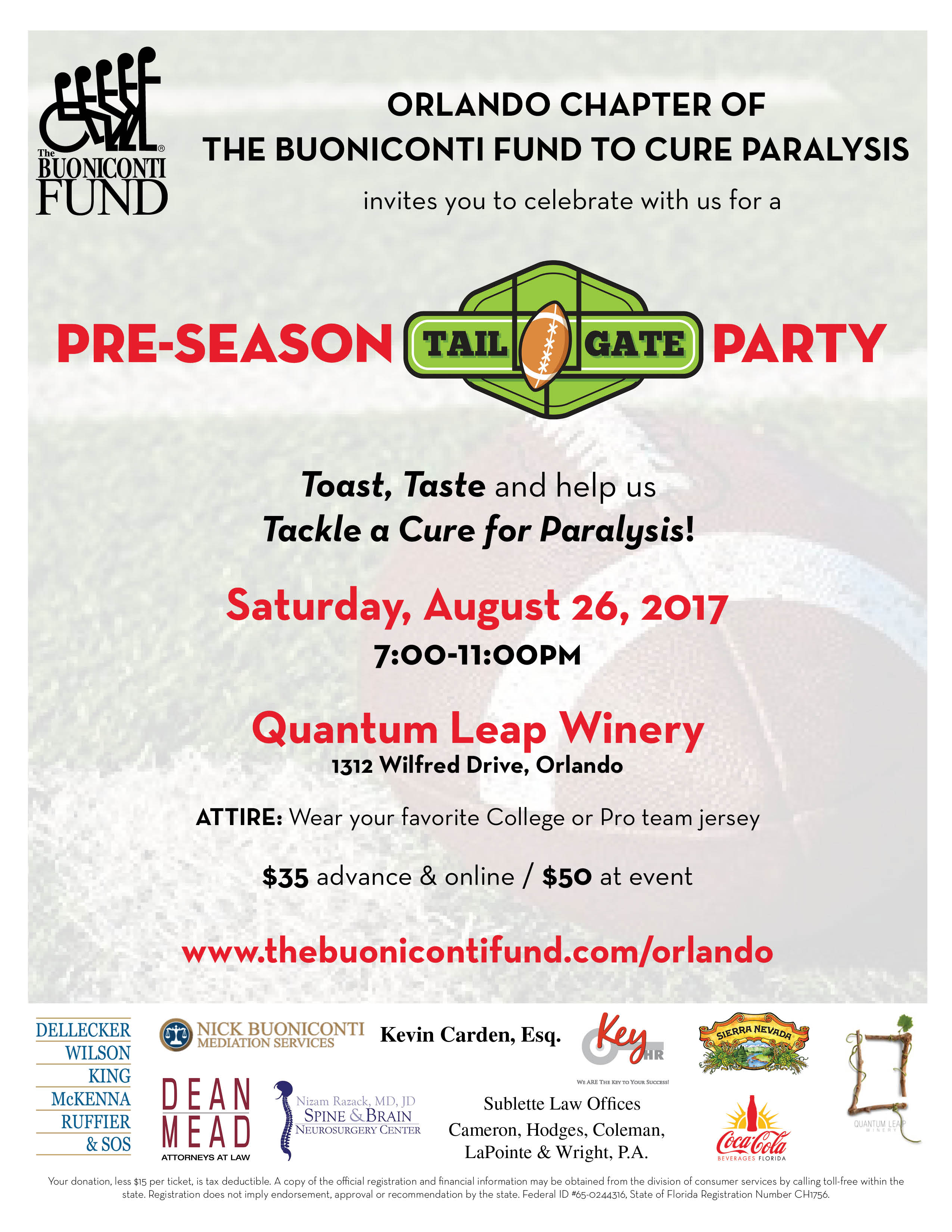 Orlando Chapter's Pre-Season Tailgate Party