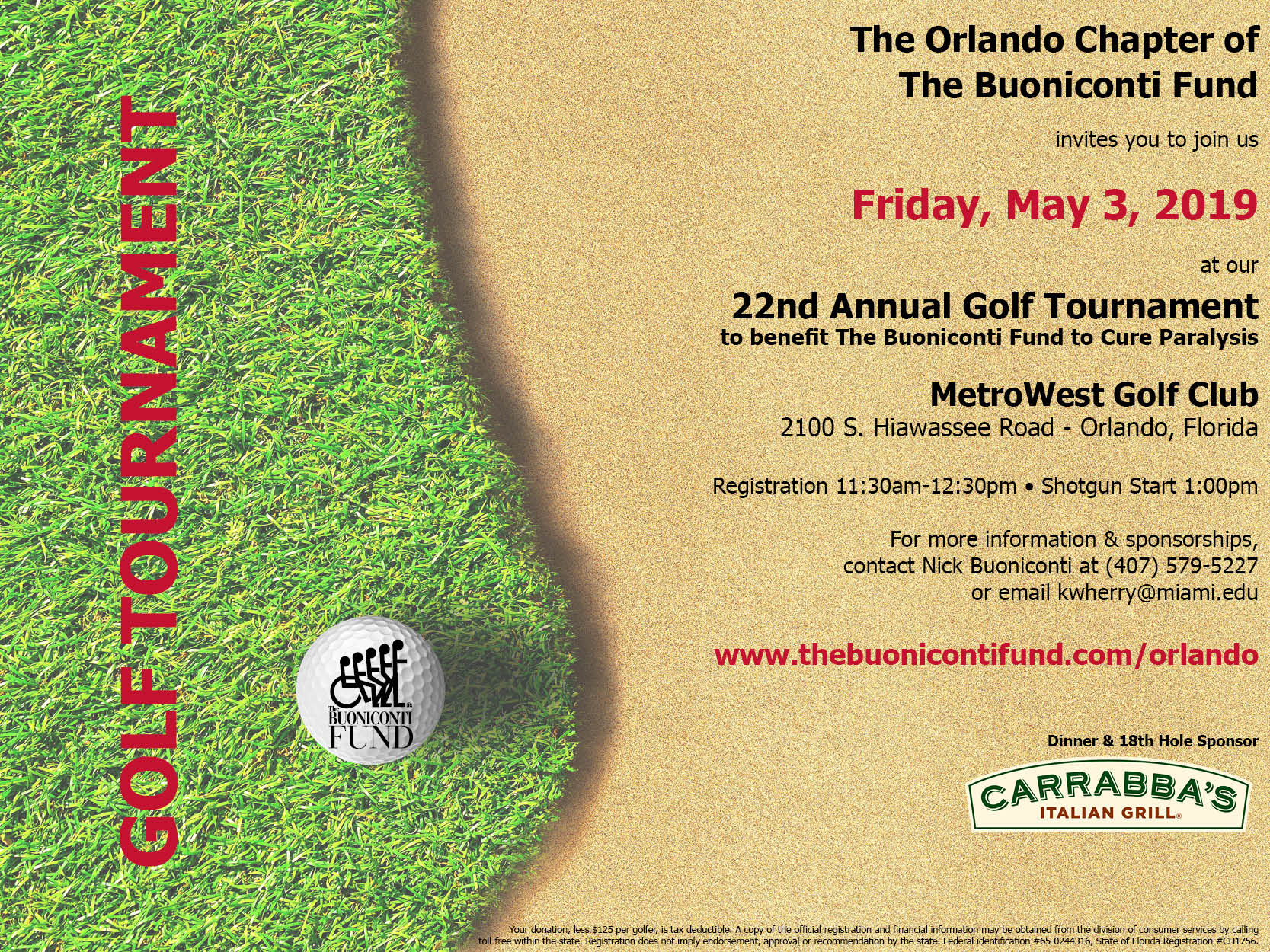 22nd Annual Orlando Golf Tournament