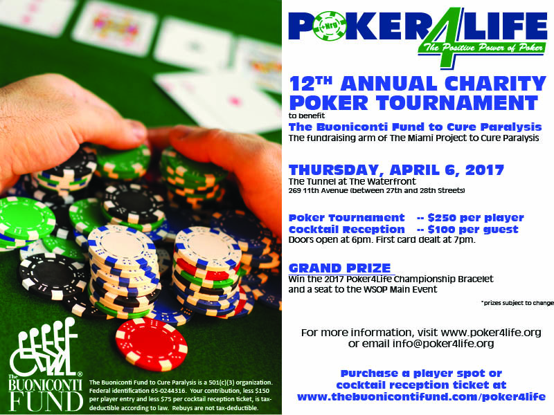 12th Annual Poker4Life Charity Poker Tournament