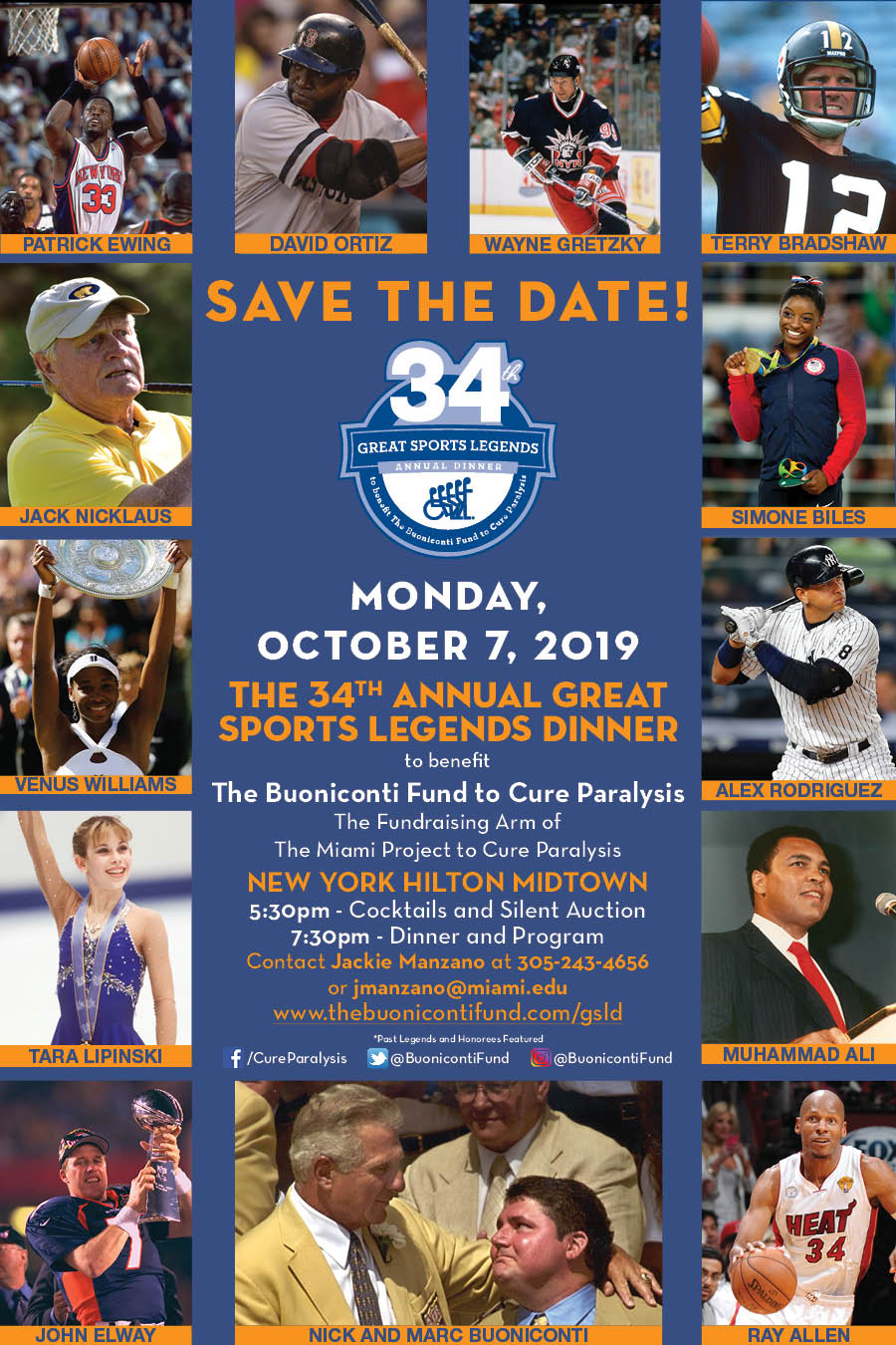 34th Annual Great Sports Legends Dinner